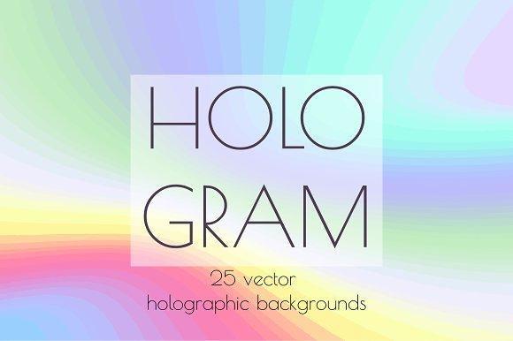 Hologram. Vector backgrounds
