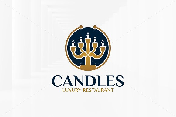 Candles Logo Template