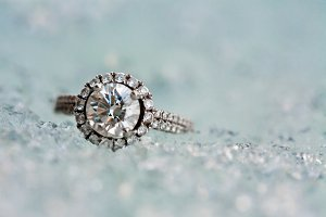 Diamond ring on ice