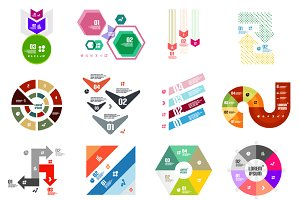 16 paper infographic designs set 3