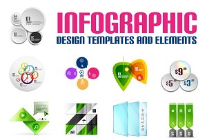 16 paper infographic designs set 6