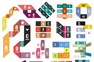 16 paper infographic designs set 10
