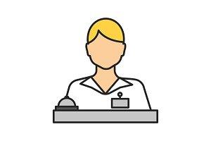 Receptionist color icon