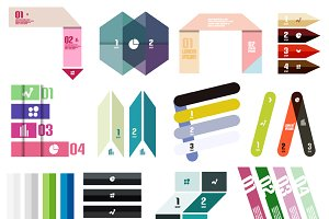 16 paper infographic designs set 11