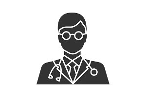 Doctor glyph icon