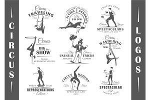 9 Circus Logos Templates Vol.1
