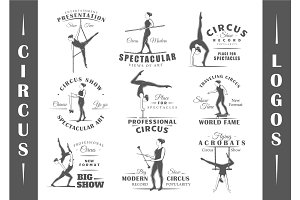 9 Circus Logos Templates Vol.2