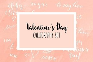 Valentine's Day Calligraphy Overlays