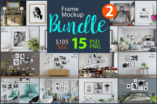 Frame Mockup Bundle Vol. 2