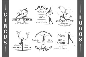 6 Circus Logos Templates Vol.3