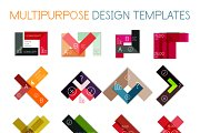 16 paper infographic designs set 17