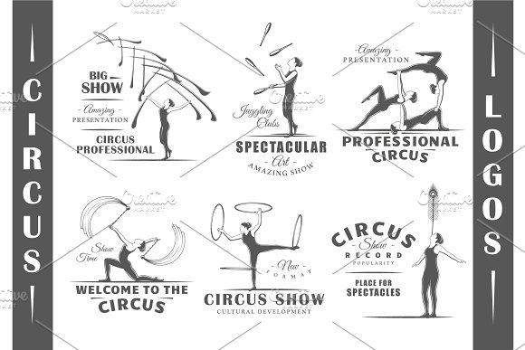 6 Circus Logos Templates Vol.4