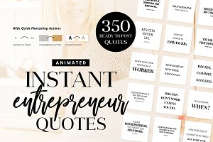 Animated Instant Entrepreneur Quotes