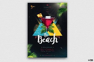 Night at The Beach Flyer Template V1