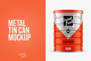 Metal TIN CAN PSD Mockup