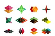 16 paper infographic designs set 20