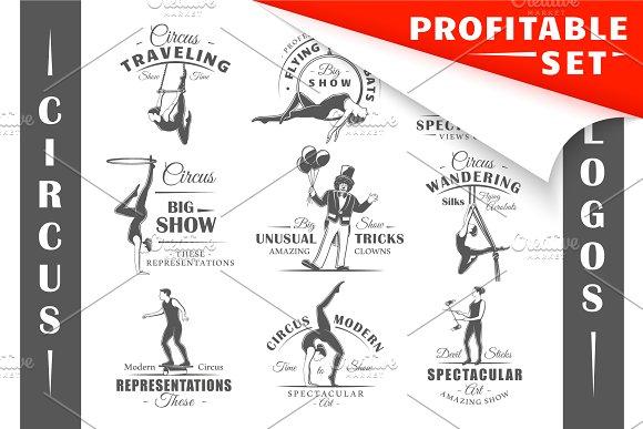 30 Circus Logos Templates