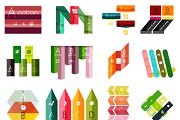 16 paper infographic designs set 21