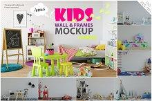 Kids Wall & Frames Mockup Bundle 1