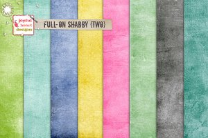 Full-On Shabby {two} digital papers