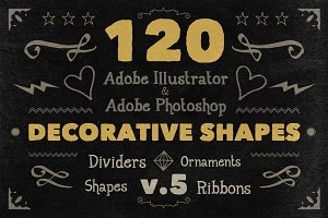 120 Handwritten Decorative Shapes 05
