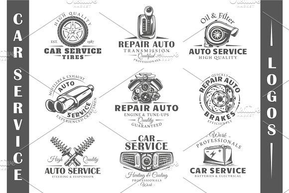 9 Car Service Logos Templates Vol.1
