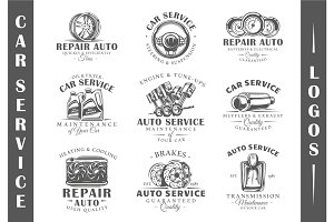 9 Car Service Logos Templates Vol.2