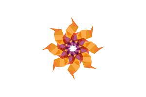 Twisted emblem patterns vector abstract modern illustration design colorful similar to a flower