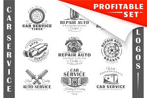 18 Car Service Logos Templates