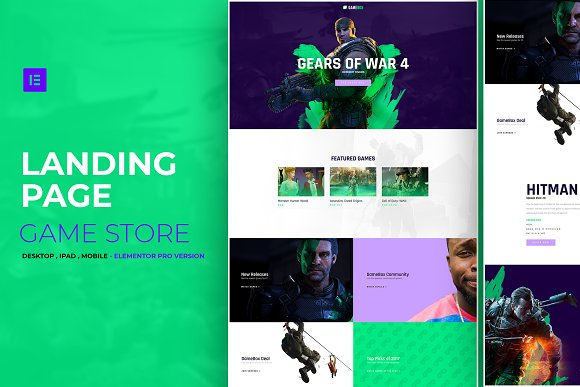 Game Store Elementor Pro Layout
