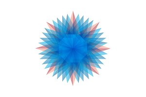 Twisted emblem patterns vector abstract modern illustration design colorful similar to a snowflake