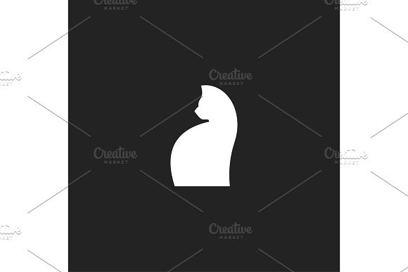 Silhouette Cat And Turned The Muzzle Can Be Used As Logo Design