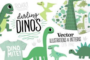Darling Dinos - Illustration Set