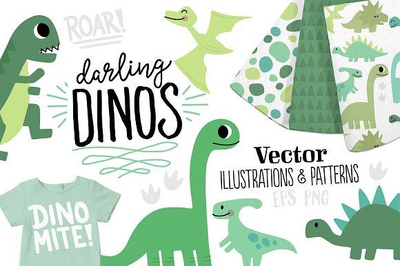 Darling Dinos Illustration Set