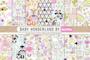 BABY WONDERLAND digital papers