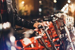 Rent a bicycle in the city