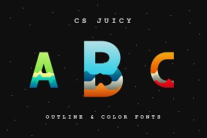 CS Juicy (Color Font & Outline)
