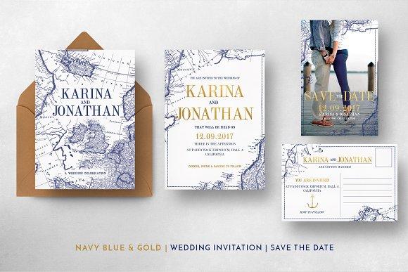 Vintage map wedding suite invitation templates creative market stopboris Images