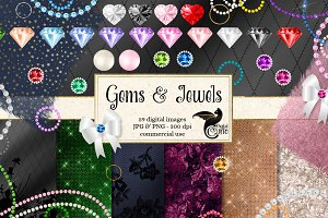 Jewel and Diamond Ornaments Clipart