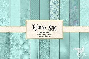 Robin Egg Blue Textures
