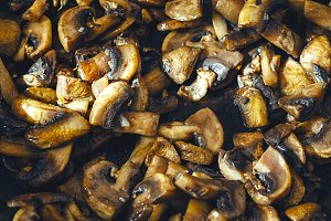 Healthy fried Mushrooms