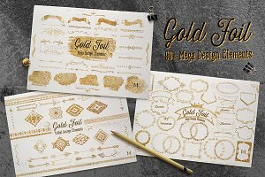 Gold Foil Mega Vector DesignElement