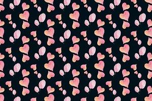 Watercolor lovepattern