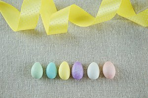 Spring Composition of Easter eggs