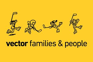 Vector Families & People Collection