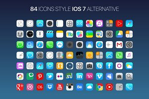 84 Icons Style IOS 7 Alternative