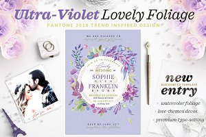 Ultra-Violet Lovely Foliage Invite V