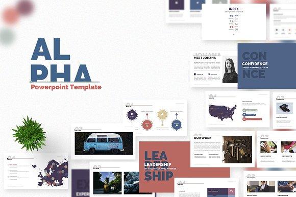 Alpha powerpoint template presentation templates creative market alpha powerpoint template presentations toneelgroepblik Gallery