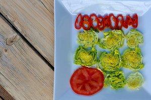 Ingredients for vegetable salad