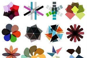 Geometrical business designs set